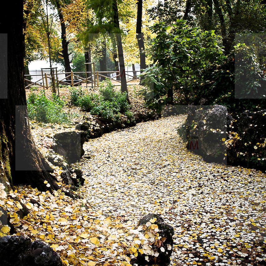 Parco di Porta Venezia a Milano..Porta Venezia public garden in Milan