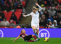 9th November 2019; Wembley Stadium, London, England; International Womens Football Friendly, England women versus Germany women; Turid Knaak of Germany slide tackles Lauren Hemp of England - Editorial Use