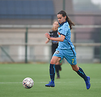 20181006 - DIKSMUIDE , BELGIUM : Famkes Westhoek Diksmuide Merkem's Angelique Verackx pictured during a soccer match between the women teams of Famkes Westhoek Diksmuide Merkem and KRC GENK B  , during the 3th matchday in the 2018-2019  Eerste klasse - First Division season, Saturday 6 October 2018 . PHOTO SPORTPIX.BE | DIRK VUYLSTEKE