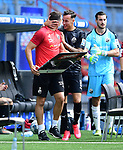 1:4 Tor, Jubel, Torschuetze Mario Engels (Sandhausen)<br />Hamburg, 28.06.2020, Fussball 2. Bundesliga, Hamburger SV - SV Sandhausen<br />Foto: Tim Groothuis/Witters/Pool//via nordphoto<br /> DFL REGULATIONS PROHIBIT ANY USE OF PHOTOGRAPHS AS IMAGE SEQUENCES AND OR QUASI VIDEO<br />EDITORIAL USE ONLY<br />NATIONAL AND INTERNATIONAL NEWS AGENCIES OUT
