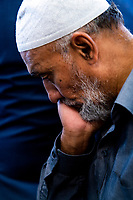 A man prays at the Wellington Islamic Centre. NZ marks one week since Christchurch terror attacks. Wellington Islamic Centre in Wellington, New Zealand on Friday, 22 March 2019. Photo: Dave Lintott / lintottphoto.co.nz