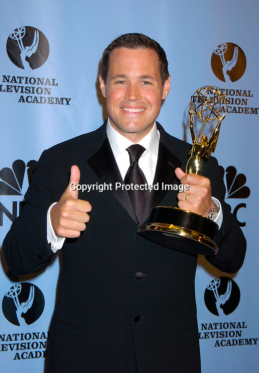 Chad Brannon ..at the Daytime Emmy Awards on May 21, 2004 in the Press Room at Radio City Music Hall...Photo by Robin Platzer, Twin Images