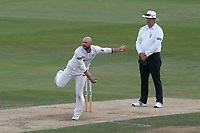 Adam Lyth in bowling action for Yorkshire during Essex CCC vs Yorkshire CCC, Specsavers County Championship Division 1 Cricket at The Cloudfm County Ground on 8th July 2019