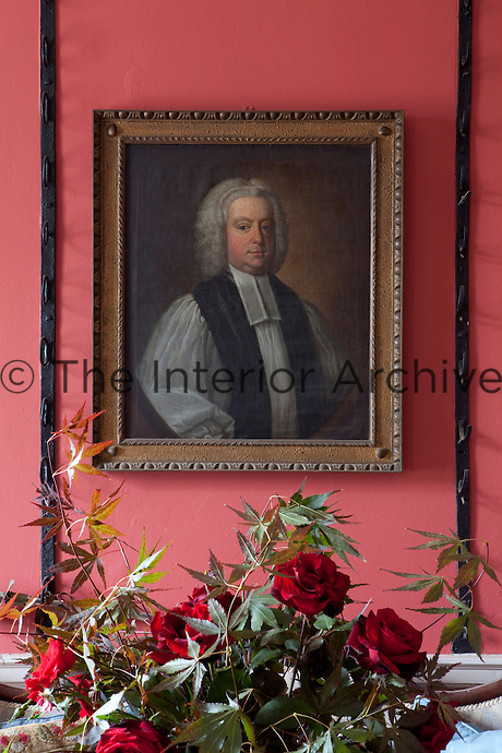 Bishop James Leslie, a former owner of Tarbert House, in a mid-eighteenth century portrait by Irish artist Philip Hussey which hangs in the entrance hall