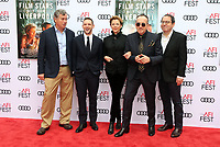 HOLLYWOOD, CA - NOVEMBER 12: Tom Bernard, Jamie Bell, Annette Bening, Elvis Costello, Michael Barker, at the Film Stars Don't Die In Liverpool Special Screening AFI Fest 2017 at the TCL Chinese Theatre in Hollywood, California on November 12, 2017. <br /> CAP/MPI/FS<br /> &copy;FS/MPI/Capital Pictures