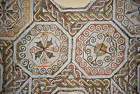 Picture of a Roman mosaics design depicting, from the ancient Roman city of Thysdrus. 3rd century AD. El Djem Archaeological Museum, El Djem, Tunisia.