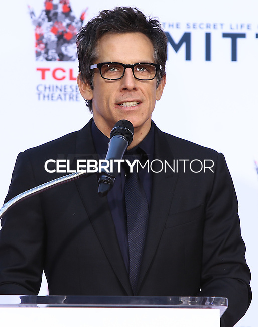 HOLLYWOOD, CA - DECEMBER 03: Ben Stiller attending the Ben Stiller Hand/Footprint Ceremony held at TCL Chinese Theatre on December 3, 2013 in Hollywood, California. (Photo by Xavier Collin/Celebrity Monitor)