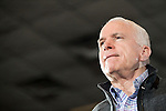 12 January 2008: US Senator and Republican Presidential candidate John McCain at a town hall in Warren, Michigan, USA.