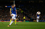 Gylfi Sigurdsson of Everton fires in a free kick during the Europa League Group E match at Goodison Park Stadium, Liverpool. Picture date: September 28th 2017. Picture credit should read: Simon Bellis/Sportimage