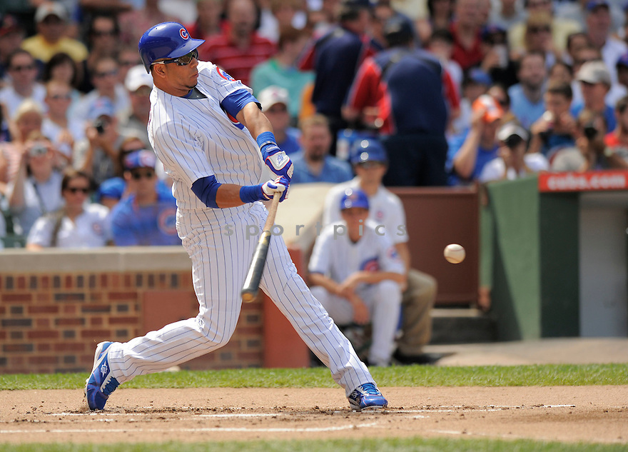 ARAMIS RAMIREZ,of the Chicago Cubs in action  during the Cubs game against the  St. Louis Cardinals, The  Cubs beat the Cardinals 7-3 in Chicago, Illinois on July 12, 2009...David Durochik