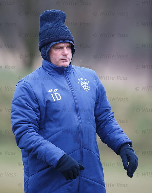 Ian Durrant taking no chances with the weather