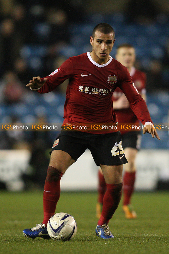 Marcus Tudgay of Barnsley - Millwall vs Barnsley - NPower Championship Football at the New Den, London - 22/12/12 - MANDATORY CREDIT: George Phillipou/TGSPHOTO - Self billing applies where appropriate - 0845 094 6026 - contact@tgsphoto.co.uk - NO UNPAID USE.