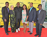 MIAMI, FL - MARCH 04: Mark Valens, Nicole St. Victor, Actor Jimmy Jean-Louis, Bernadette Williams, David César and ,Jean-Bernard Desinat attend the Miami Film Festival screening for 'Serenade for Haiti' at Regal South Beach on March 4, 2017 in Miami, Florida.  ( Photo by Johnny Louis / jlnphotography.com )