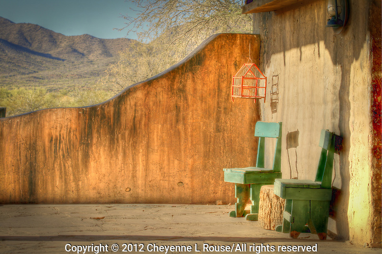A lazy old west veranda in Old Tucson - Arizona.