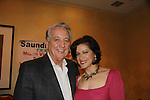 Sopranos, One Life To Live & Guiding Light Saundra Santiago poses with Desperate Housewives, Royal Pains, 24 Bob Gunton at Chiller Theatre's Spring Spooktacular on the weekend of April 27-29 at the Hilton Parsippany in Parsippany, New Jersey. (Photo by Sue Coflin/Max Photos)