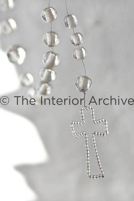 Detail of a homemade crucifix