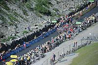grupetto coming up<br /> <br /> stage 17: Bern (SUI) - Finhaut-Emosson (SUI) 184.5km<br /> 103rd Tour de France 2016