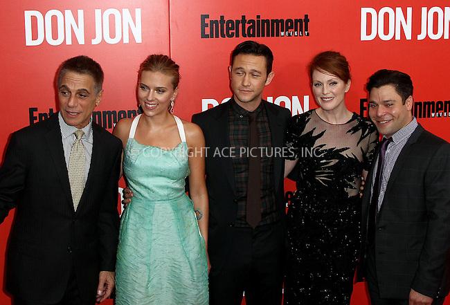 WWW.ACEPIXS.COM<br /> <br /> September 12 2013, New York City<br /> Tony Danza, Scarlett Johansson, Joseph Gordon-Levitt, Julianne Moore at the 'Don Jon' New York Premiere at SVA Theater on September 12, 2013 in New York City. <br /> <br /> By Line: Zelig Shaul/ACE Pictures<br /> <br /> <br /> ACE Pictures, Inc.<br /> tel: 646 769 0430<br /> Email: info@acepixs.com<br /> www.acepixs.com