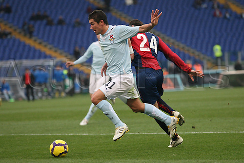 13th December 2009: Aleksandro Kolarov in game action during the match for the Italian Serie A Soccer Lazio V.Genoa at the Olympic Satadium,Rome.Photo by Leonardo Cavallo/ActionPlus - Worldwide Editorial