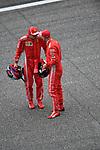 14.04.2018, Shanghai Audi International Circuit, Shanghai, 2018 FORMULA 1 HEINEKEN CHINESE GRAND PRIX, 12.04. - 15.04.2018<br /> im Bild<br />Poleposition f&uuml;r Sebastian Vettel (GER#5), Scuderia Ferrari, Kimi Raikkonen (FIN#7), Scuderia Ferrari<br /> <br /><br /> <br /> Foto &copy; nordphoto / Bratic