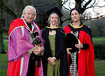 REPRO FREE<br /> 21/01/2015<br /> Professor M&iacute;che&aacute;l &Oacute; S&uacute;illeabh&aacute;in, Founding Director Irish World Academy of Music and Dance at the University of Limerick pictured with Femke Van Der Kooig, Ballinruane, Co. Galway, MA Ritual Chant and Song and Dr Helen Phelan, Director of Phd in Arts Practice Irish World Academy of Music and Dance at the University of Limerick as the University of Limerick continues three days of Winter conferring ceremonies which will see 1831 students conferring, including 74 PhDs. <br /> UL President, Professor Don Barry highlighted the increasing growth in demand for UL graduates by employers and the institution&rsquo;s position as Sunday Times University of the Year. <br /> Picture: Don Moloney / Press 22