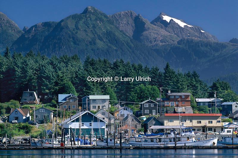 Sitka Harbor<br />   from Japonski Island<br /> Sitka,  Baranof Island<br /> Southest Alaska