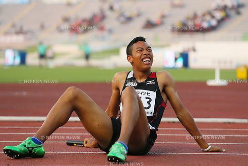 Abdul Hakim Sani Brown, JULY 30, 2015 - Athletics : 2015 All-Japan Inter High School Championships, Men's 4100mR Semi-final at Kimiidera Athletic Stadium, Wakayama, Japan. (Photo by YUTAKA/AFLO SPORT)