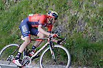Dylan Theuns (BEL) Bahrain-Merida near the end of Stage 5 of the Tour of the Basque Country 2019 running 149.8km from Arrigorriaga to Arrate, Spain. 12th April 2019.<br /> Picture: Colin Flockton | Cyclefile<br /> <br /> <br /> All photos usage must carry mandatory copyright credit (© Cyclefile | Colin Flockton)