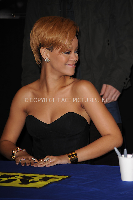 WWW.ACEPIXS.COM . . . . . ....November 23 2009, New York City....Singer Rihanna signed copies of her CD at Best Buy in Manhattan on November 23 2009 in New York City....Please byline: KRISTIN CALLAHAN - ACEPIXS.COM.. . . . . . ..Ace Pictures, Inc:  ..tel: (212) 243 8787 or (646) 769 0430..e-mail: info@acepixs.com..web: http://www.acepixs.com