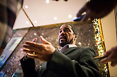 Darrell Scott, a Cleveland pastor and Trump supporter speaks to media inside the lobby of Trump Tower in Manhattan, New York, U.S., on Tuesday, December 13, 2016. <br /> Credit: John Taggart / Pool via CNP
