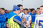 Gerdie O'Sullivan one of the St Mary's Management team celebrates with players after their win on Sunday.