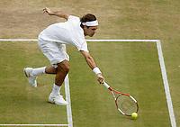 5-7-06,England, London, Wimbledon, quarter finals, Roger Federer