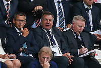 FA Chief Executive Martin Glenn gives a thumbs up as he sits beside England National Team Manager Sam Allardyce during the International EURO U21 QUALIFYING - GROUP 9 match between England U21 and Norway U21 at the Weston Homes Community Stadium, Colchester, England on 6 September 2016. Photo by Andy Rowland / PRiME Media Images.