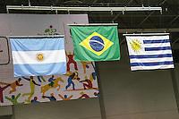 TORONTO, CANADA, 24.07.2015 - PAN-HANDBALL - Cerimonia de premia após partida entre  Brasil e  Argentina na final do Handball Feminino no Centro de Exposições de Toronto nesta sexta-feira, 24. (Foto: William Volcov/Brazil Photo Press)