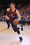 Turkish Airlines Euroleague 2017/2018.<br /> Regular Season - Round 23.<br /> FC Barcelona Lassa vs R. Madrid: 74-101.<br /> Victor Claver.