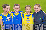 Tralee runners Jenny Godley, Courtney Ryan, Ciara Murphy Balloonagh NS and Aoife O'Carroll Cahermoleen NS at the County National Schools athletics finals in Castleisland On Saturday