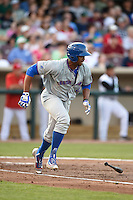 South Bend Cubs left fielder Eloy Jimenez (27) at bat during a game against the Dayton Dragons on May 11, 2016 at Fifth Third Field in Dayton, Ohio.  South Bend defeated Dayton 2-0.  (Mike Janes/Four Seam Images)