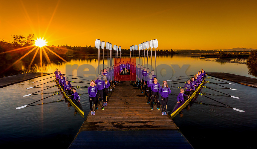 The 2017 University of Washington men's rowing team. (Photography by Scott Eklund/Red Box Pictures)