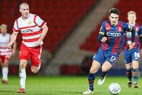 Alex Gilliead of Bradford City gets away from Luke McCullough of Doncaster Rovers during the Sky Bet League 1 match between Doncaster Rovers and Bradford City at the Keepmoat Stadium, Doncaster, England on 19 March 2018. Photo by Thomas Gadd.