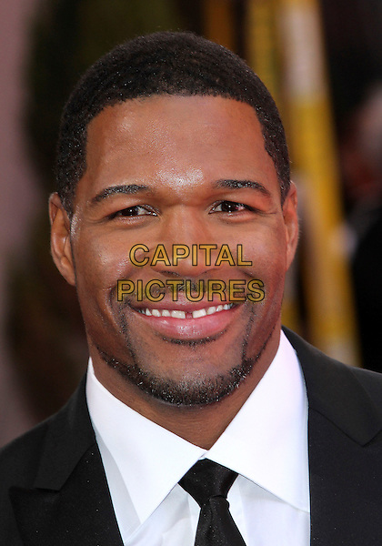 Michael Strahan.85th Annual Academy Awards held at the Dolby Theatre at Hollywood & Highland Center, Hollywood, California, USA..February 24th, 2013.oscars headshot portrait black white tie shirt goatee facial hair .CAP/ADM/SLP/COL.©Colin/StarlitePics/AdMedia/Capital Pictures