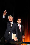 President Bill Clinton and host Keith Lind at the Holly's Angels Gala for Making Headway Foundation at Cipriani in New York City.   The benefit honored the memory of  Holly Lind. Making Headway provides medical and social service support for pediatric brain and spinal chord cancer patients and their families.