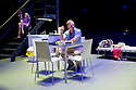 London, UK. 25.07.2014. A STREETCAR NAMED DESIRE, by Tennessee Williams, opens at the Young Vic theatre. Directed by Benedict Andrews, the play stars Gillian Anderson (Blanche DuBois), Ben Foster (Stanley Kowalski) and Vanessa Kirby (Stella Kowalski). Photograph © Jane Hobson.
