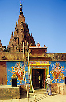 India. Varanasi/Benares/Kasha. Monkey Temple. Sankat-Mochan, shrine to the monkey god Hanuman..