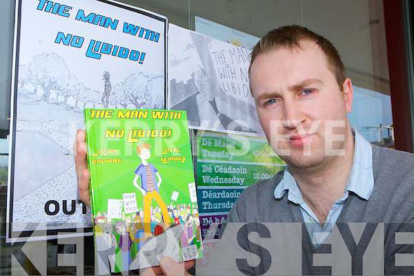 Killorglin author Jason Browne with his new book The Man With No Libido! Which he published this week..