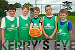 Over 100 children attended the Team Kerry Basketball Camp in Tralee last week. .L-R Eoin Culloty, Darragh Broderick, Cian Godleym Andy Ahern and Conor Teahan.