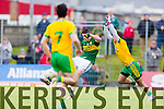 Paul Geaney Kerry in action against Karl Lacey Donegal in Division One of the National Football League at Austin Stack Park Tralee on Sunday.