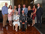 Tony and Dina Saurin celebrating their 60th wedding anniversary with ther sons Dermot, Gerry and Alannd spouses Michelle, Carol, Ann, Dermot's wife Geraldine and his son Garry in the d hotel. Photo:Colin Bell/pressphotos.ie