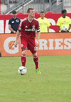 July 20, 2013: Toronto FC defender Steven Caldwell #13 in action during a game between Toronto FC and the Columbus Crew at BMO Field in Toronto, Ontario Canada.<br /> Toronto FC won 2-1.
