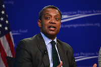 """Washington, DC - February 27, 2017: District of Columbia Attorney General Karl Racine speaks during the """"States Defending Progress forum at the Center for American Progress February 27, 2017.  (Photo by Don Baxter/Media Images International)"""