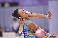 September 23, 2014 - Izmir, Turkey -  SON YEON-Jae of South Korea performs at 2014 World Championships.